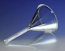 embudo de vidrio para dibujar