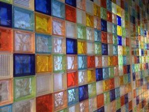 bloques de vidrio para baño