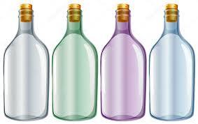 botella de vidrio para leche