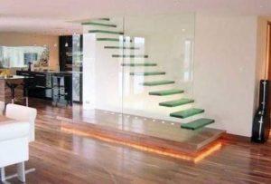 barandilla de vidrio escalera