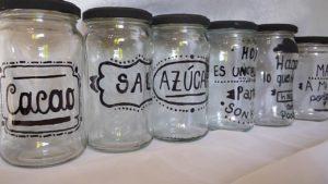 frascos de vidrio para conservas